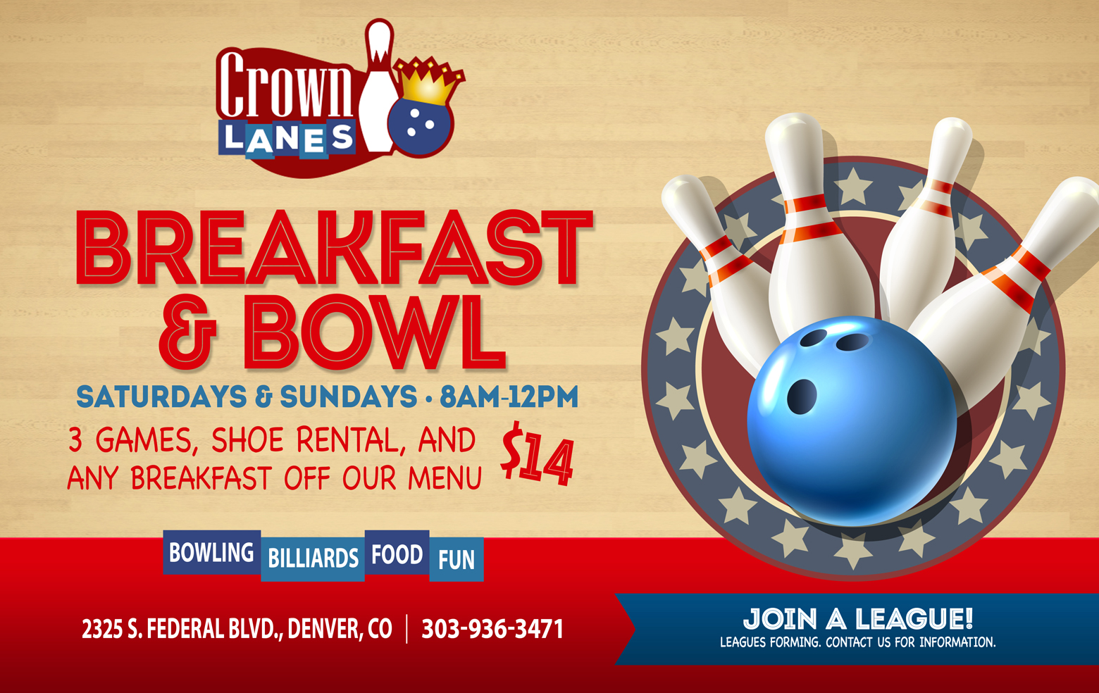 Breakfast and Bowl Special